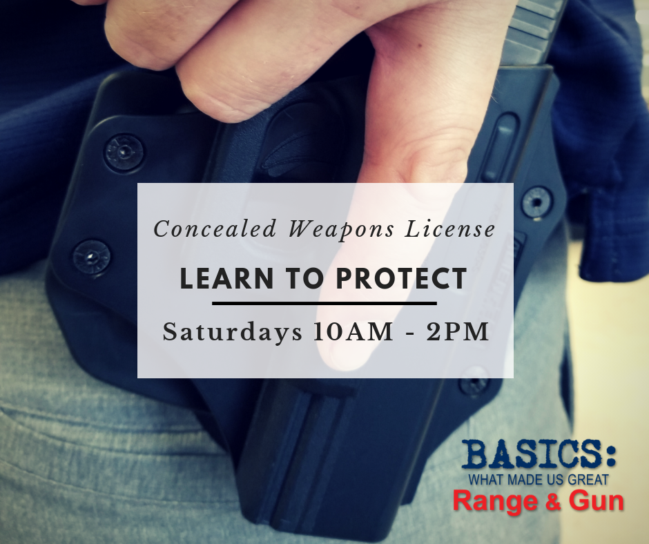 Concealed Weapons License Course - Basics Range and Gun